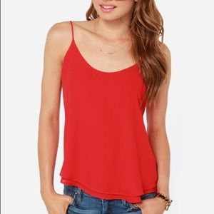 Lucy Love Go-To Red Tank